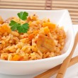 Uzbek national dish plov in a bowl — Stock Photo #30408491