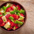 Stock Photo: Salad of sweet colorful peppers with olive oil