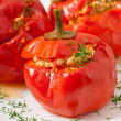 Stuffed peppers — Stock Photo