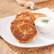 Cutlets cauliflower with dill and garlic — Stock Photo