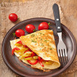 Omelette with roasted peppers — Stock Photo #31181851