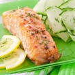 Fish dish - grilled salmon with vegetables — Stock Photo #32609781