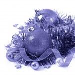Blue christmas ball isolated — Stock Photo #34266695