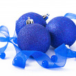 Blue christmas ball isolated — Stock Photo #34266705