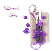 Lugar de mesa para el día de san valentín — Foto de Stock