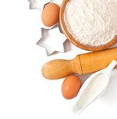 Baking ingredients closeup — Stock Photo