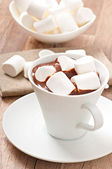 Hot chocolate with a marshmallows — Stock Photo
