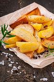 French fries potato wedges — Stock Photo