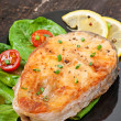 Fish dish - fried fish fillet with vegetables — Stock Photo #41152967