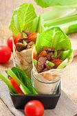 Envoltórios de tortilla — Foto Stock