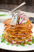 Fried potato pancakes — Stock Photo