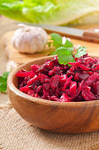 Beet salad Vinaigrette in  bowl — Stock Photo