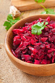 Beet salad Vinaigrette in  bowl — Stock Photo
