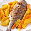 Dorada baked with potatoes — Stock Photo #42867547