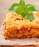 Lasagna with bolognese sauce — Stock Photo