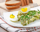 Omelet with green bean — Stock Photo