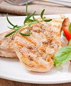 鸡肉和蔬菜 — 图库照片