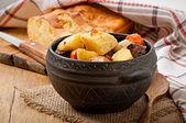 Stewed potatoes homemade — Stock Photo