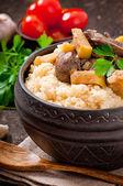 小麦粥 — 图库照片