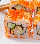 Traditional fresh japanese sushi rolls — 图库照片