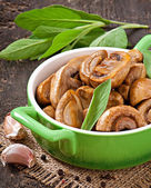 Sauteed mushrooms — Stock Photo