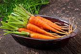 Bunch of fresh carrots — Photo