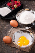 Baking ingredients — Stock Photo