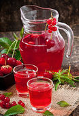 Red currant drink — Stock Photo