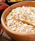Oat flakes in a bowl — Stock Photo