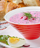 Soup with beet — Stock Photo