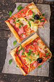 Tranches de pizza — Photo