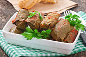 Dolma, stuffed grape leaves — Stock Photo