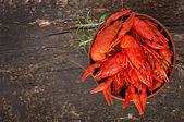 Boiled crawfishes — Stock Photo