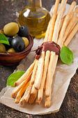 Grissini bread sticks — Stock Photo