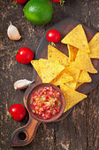 Mexican nacho chips — Stock Photo