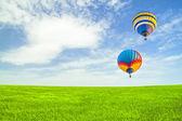 Flight of balloons — Stock Photo