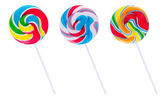 Set of three lollipops — Stock Photo