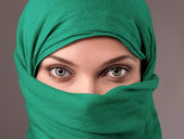 Young woman in a hijab — Stock Photo