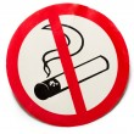 No smoking sign on background — Stock Photo