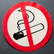 No smoking sign on background - Stock Photo