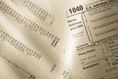 Tax form and operating budget — Stock Photo
