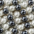 String of black and white pearl - Foto Stock