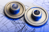Mekaniska ratchets och utarbetande — Stockfoto