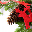 Background with fir and cone — Stock fotografie