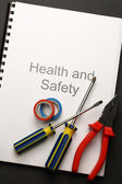 Register with pliers and screwdrivers — Stock Photo