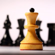 Wooden chessboard with chessmen — Stock Photo #16636679