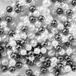 String of black and white pearls — Stock Photo #16636717