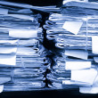 Paper documents stacked in archive - Foto Stock