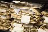 Paper documents stacked in archive — Stock Photo