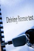 Testbook and car key — ストック写真
